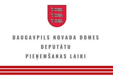 Daugavpils novada domes deputātu iedzīvotāju pieņemšana janvārī